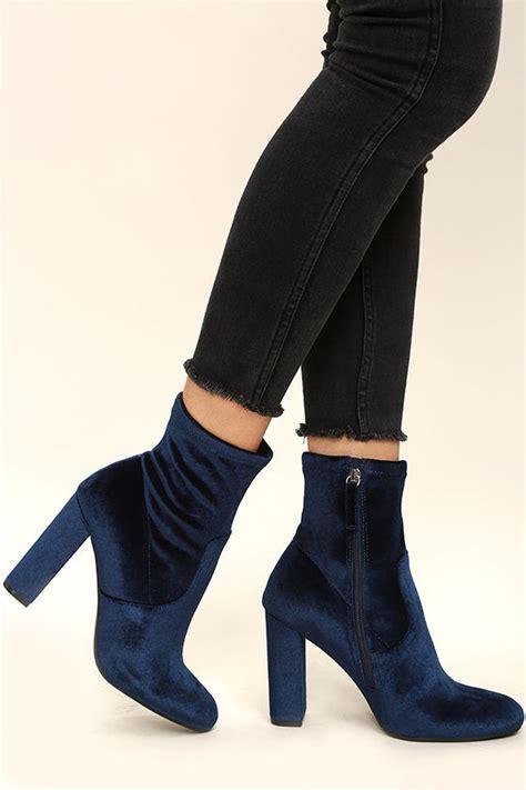 Mid Calf High Heel Boots steve madden edit velvet booties high heel boots mid