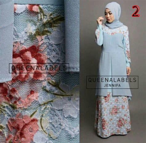 Kimora Dress Gamis Katun jennifa 2 baju muslim gamis modern