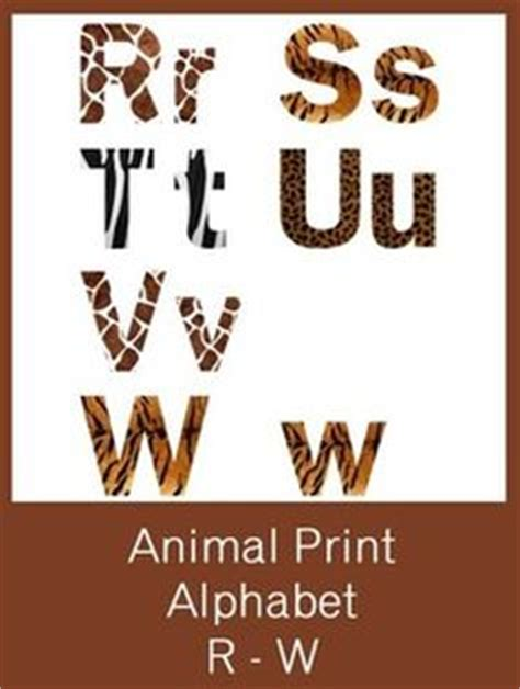 printable animal fonts alphabet letters animals and animal prints on pinterest