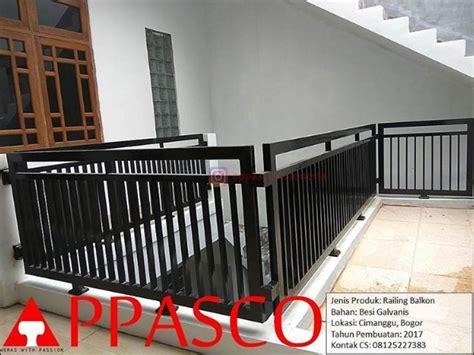 Railing Balkon Rumah Tingkat Bogor   Jual Kanopi Tralis