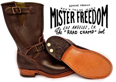 road boots mister freedom 174 road ch 169 motor cycle engineer boots