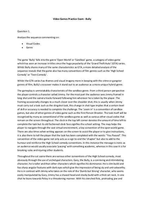 thesis regarding bullying a persuasive essay on bullying descriptive paper exles