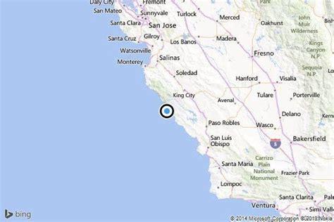 california map hearst castle earthquake 3 3 temblor strikes near hearst castle in san