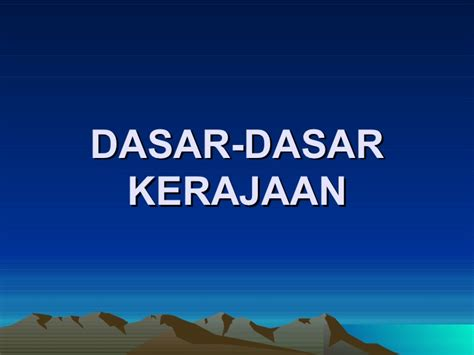 Dasar Dasar Ekonometrika Ed 5 Jld 1 By Gujarati 10 dasar dasar kerajaan malaysia