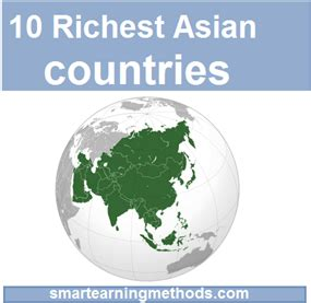 top 10 richest countries in south america 2012 top 10 richest countries of asia in 2012 smart earning methods