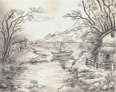 most beautiful scenery drawing tag easy pencil shading beautiful pencil sketches of landscapes drawing of sketch
