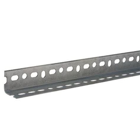 everbilt 1 1 2 in x 60 in zinc plated slotted angle