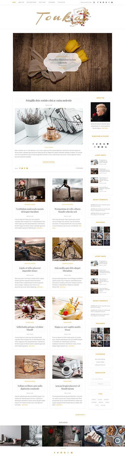 wordpress blog themes elegant tonka an elegant wordpress blog theme themes templates