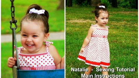 dress pattern designing by natalie how to sew a sun dress natalie pattern youtube