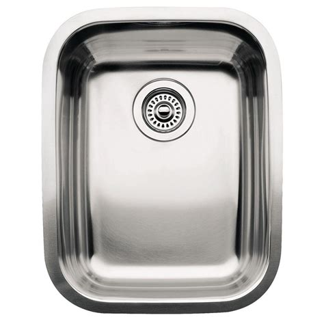 Blanco Kitchen Sinks Stainless Steel Blanco Supreme Undermount Stainless Steel 16in 3 4 Single Bowl Kitchen Sink 440247 The Home Depot