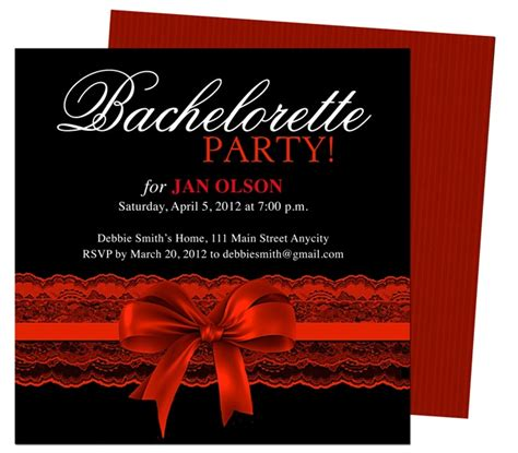 bachelorette invitations free template bachelorette invitations templates scarlet