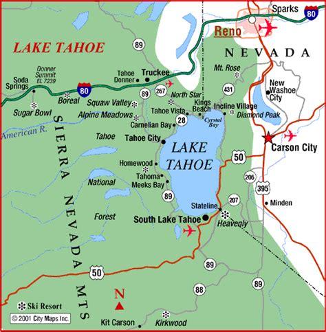 lake tahoe map 22 new tahoe nevada map afputra