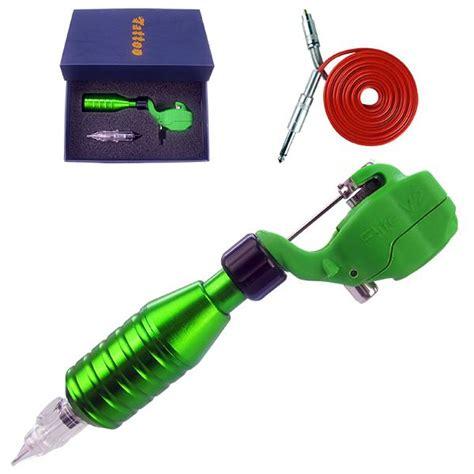 inkjecta flite v2 1 combo rotary tattoo machine green