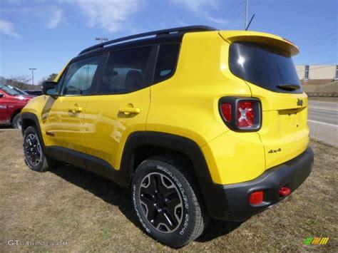 yellow jeep interior solar yellow 2015 jeep renegade trailhawk 4x4 exterior