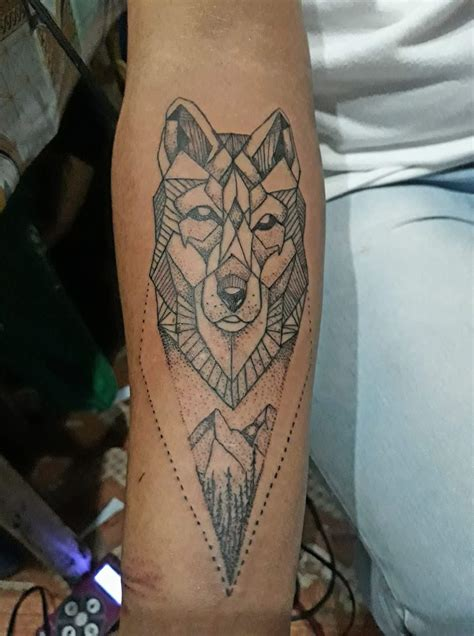 animal tattoo lower arm 40 edgy geometric tattoos to add style to your appearance