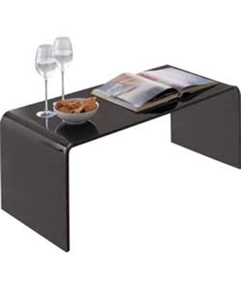 hygena mistral coffee table black acrylic review