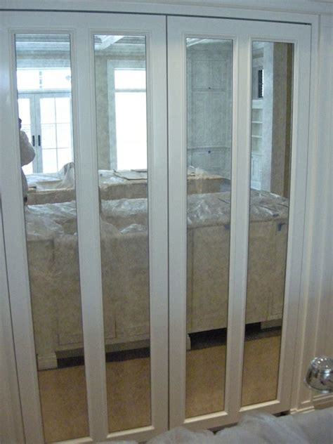 Closet With Mirror Doors Folding Doors Mirror Folding Doors For Closets