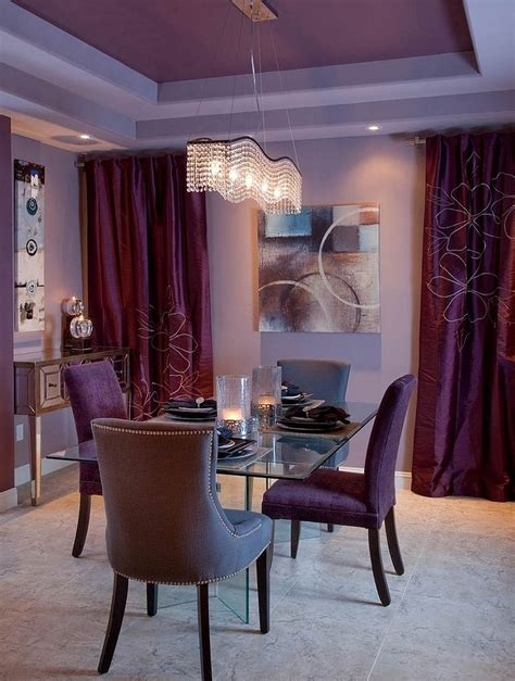 purple dining rooms how to fashion a sumptuous dining room using majestic purple