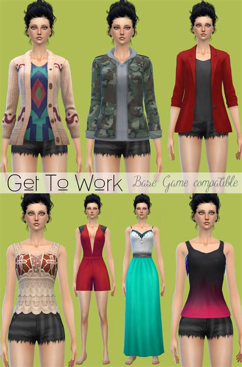 sims 3 basegame clothes and hair jennisims downloads sims 4 clothes shoes conversion