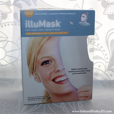 blue light acne mask illumask anti acne light therapy mask review