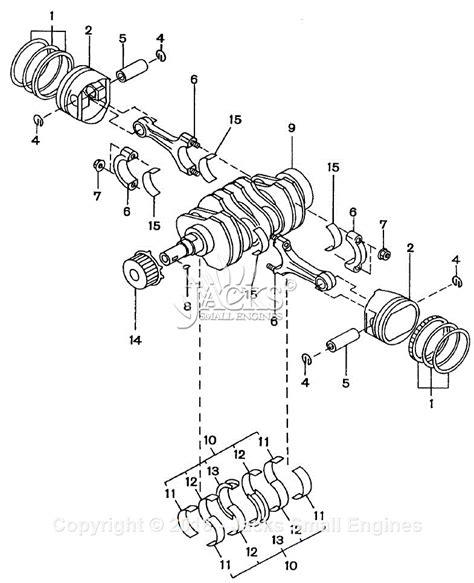 crankshaft parts diagram robin subaru ew180 3 parts diagram for piston crankshaft