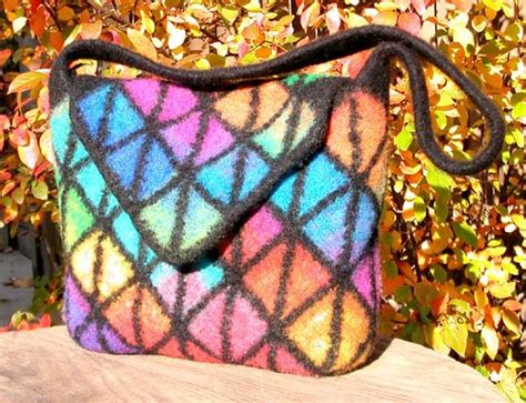 pattern for tote bag with flap felted handbag workshop new mitered squares felted tote