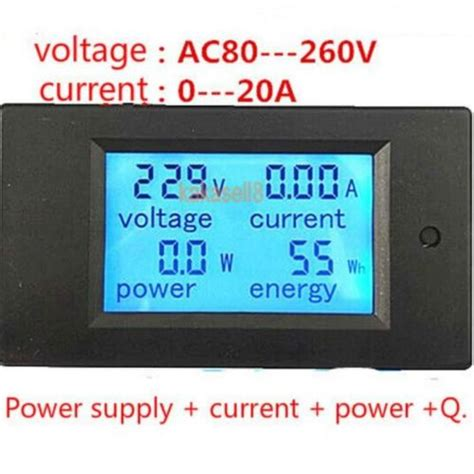 Ac Multifunction Voltmeter Meter Energy Power Monitor Ac 80 260 100a aliexpress buy 20a ac multifunction digital led