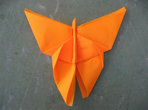 origami paper napkins butterfly napkin uses paper but might work for cloth