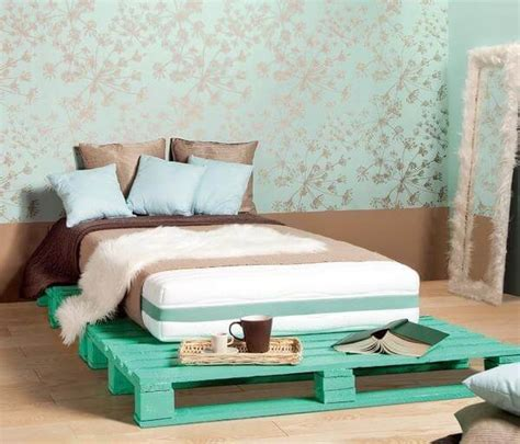 bed on pallets diy pallet bed your own creativity ideas 101 pallets