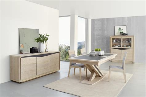 salle a manger chene moderne acheter votre enfilade 3 portes chene massif et ceramique