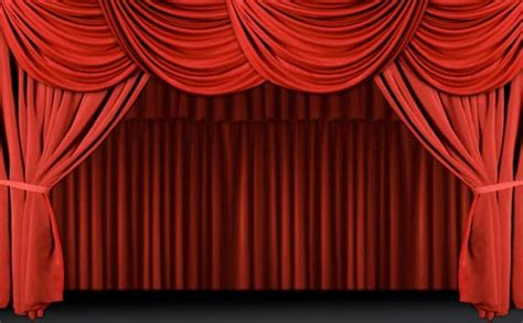 red drape stage curtains red 3