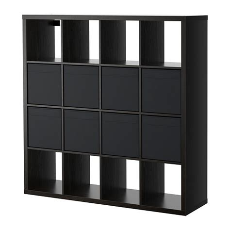 kallax dr 214 na shelving unit with 8 inserts black brown