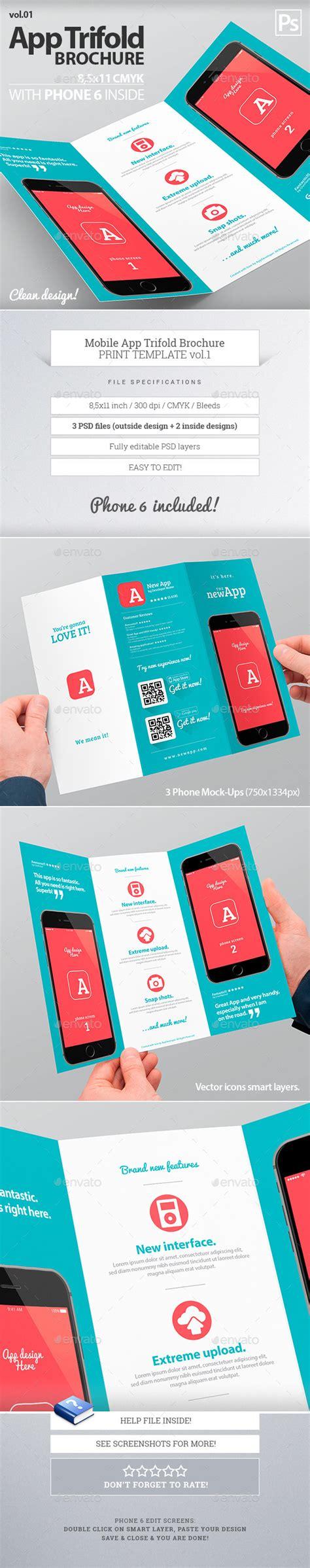 design leaflet app mobile app trifold brochure vol 1 brochures mobile app