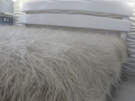 Fuzzy Comforter by Bed Blanket Wool Flokati Throw Fuzzy Bed Cover Fur Throw