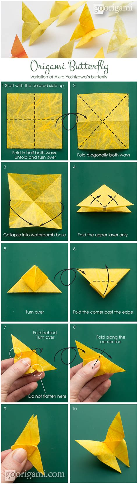 How To Make A Butterfly From Paper - best origami butterfly go origami