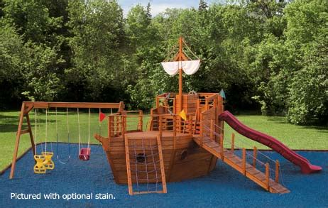 backyard pirate ship plans youngster s yacht outdoor ship playset for children