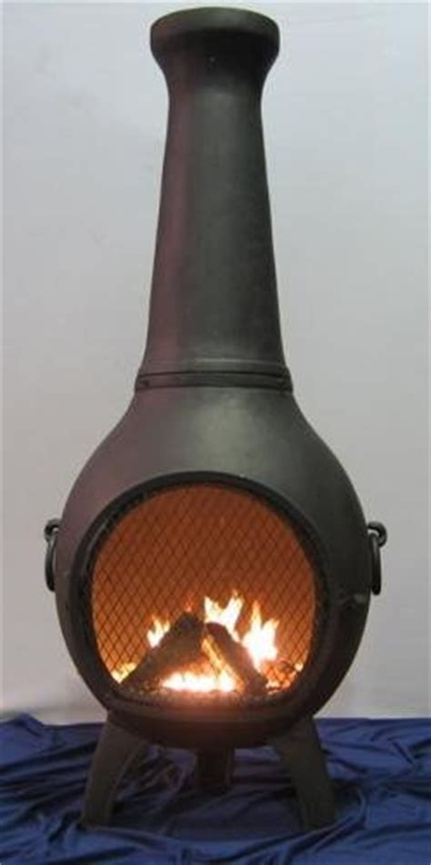 black friday chiminea outdoor fireplace blue rooster