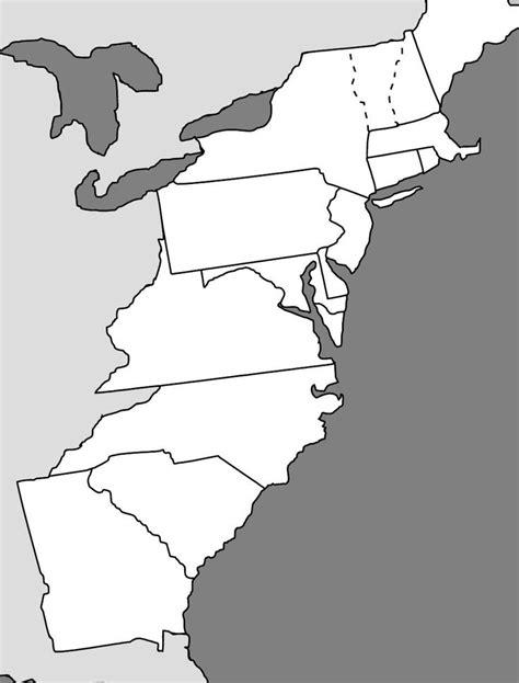 13 Colonies Map - Fotolip
