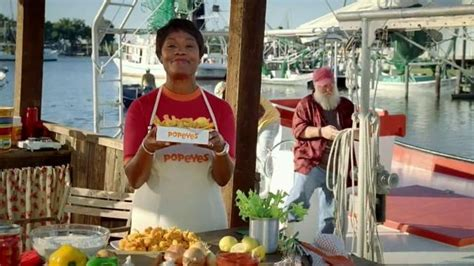 xq commercial actress popeyes butterfly shrimp tackle box tv spot squished