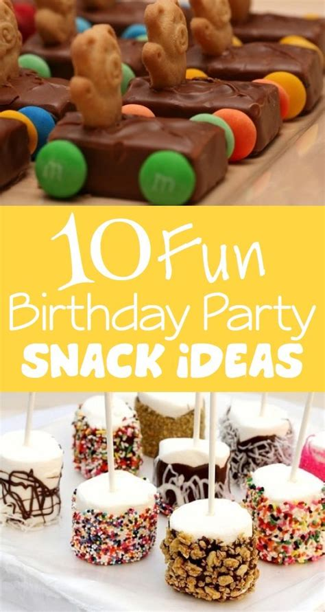 fun party themes 10 fun birthday party snack ideas kids kubby