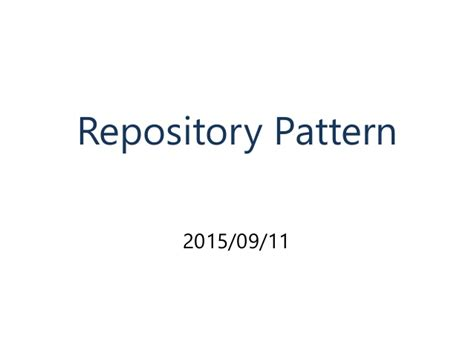 repository pattern in laravel 5 introduction the repository pattern
