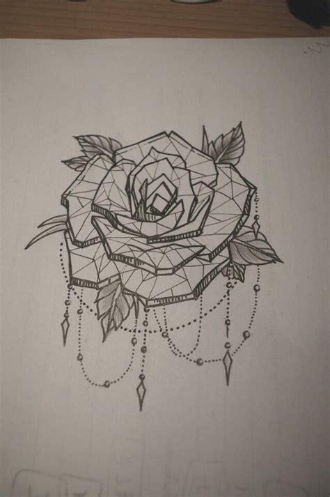 geometric rose tattoo geometric watercolor tattoos
