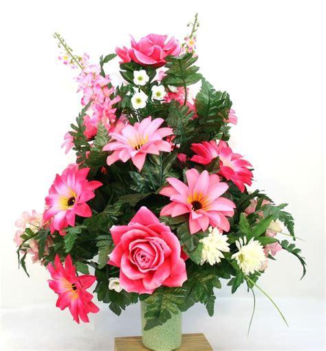 s day cemetery vase flower arrangement w