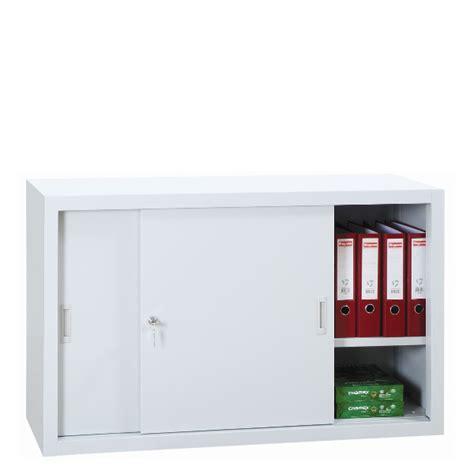 Armoire Metallique De Bureau armoire basse m 233 tallique 224 portes coulissantes armoires