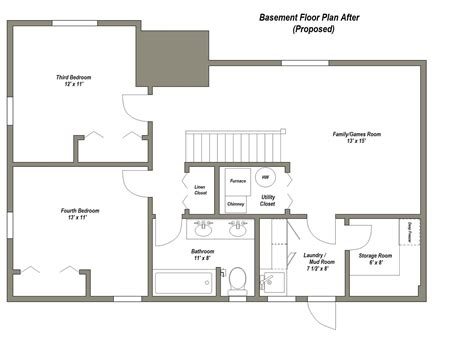 floor plan ideas four common basement design plans to consider thats my