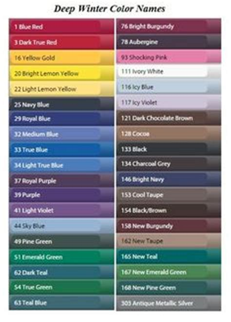 cool color names 1000 ideas about deep winter colors on pinterest deep