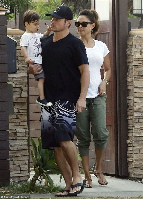 Minnillo And Nick Lachey Hit The Pool by Minnillo Displays Growing Baby Bump As She And