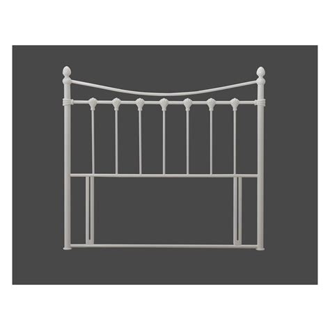 single metal headboard time living florida headboard 3ft single ivory metal