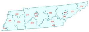 Tennessee Zip Code Map by Tennessee Zip Code Prefix Map