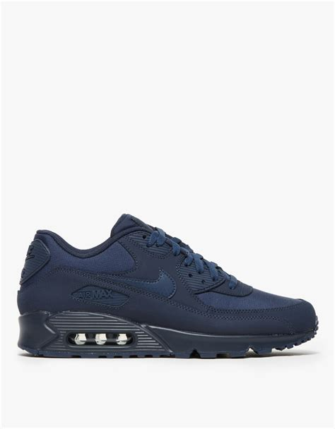 Nike Air Max Blue nike air max 90 essential in blue for navy lyst